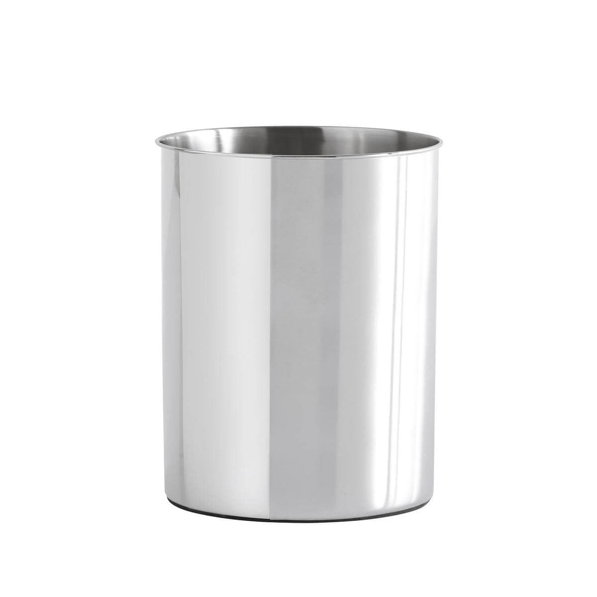 Croscill Alloy Waste Basket Brushed Nickel Bathroom Accessories Silver Products In 2019 Brushed Nickel Bathroom Accessories Recycling Bins Bathroom Coll