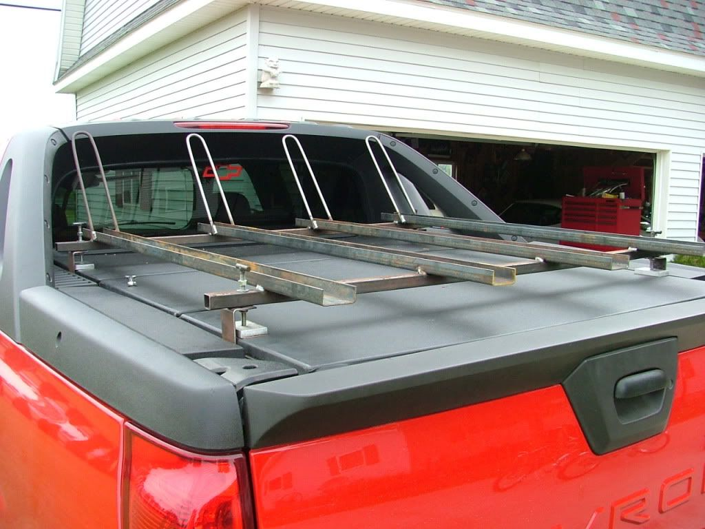 Chevy Avalanche · Bike Rack On Bed Cover