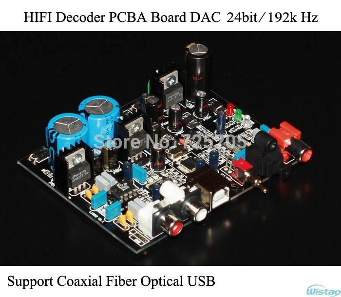 Hifi Decoder Pcba Dac 24bit 192k Coaxial Optical Usb Receiver Cs8416 Decode Ad1852 Replace Sound Card Audio Diy Free Shipping Sound Card Hifi Usb