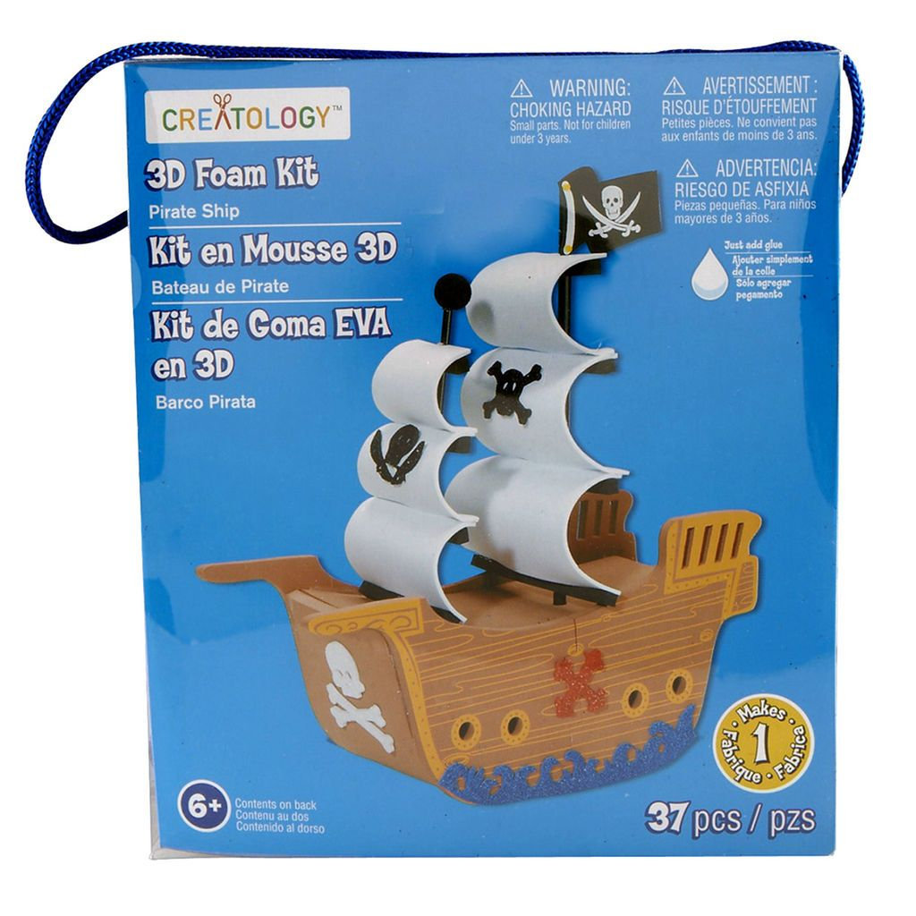 Creatology 3D Foam Kit Pirate Ship Foam crafts Vikings and Craft