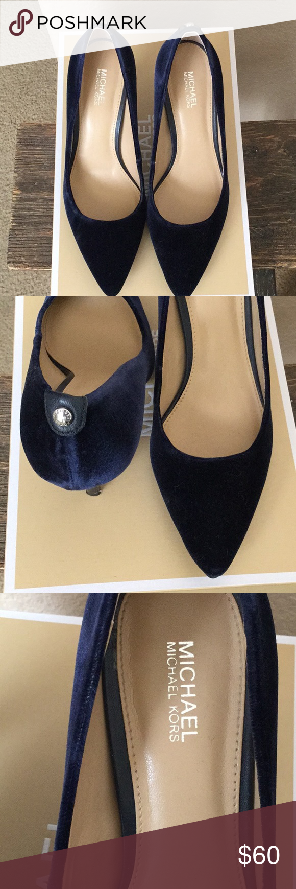 Velvet pumps, Michael kors shoes heels