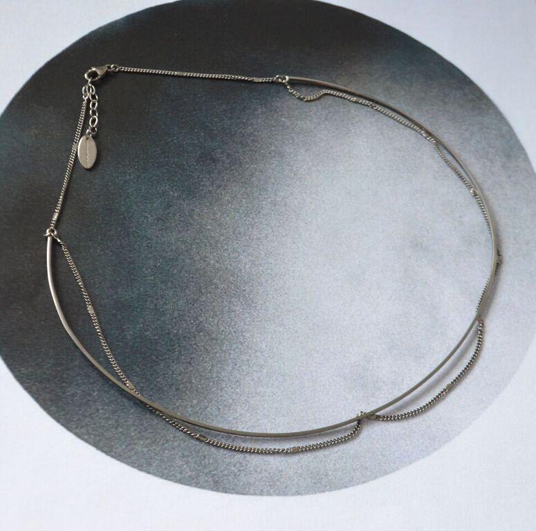 Collier chaîne ras de cou rigide 3mm argent massif 925