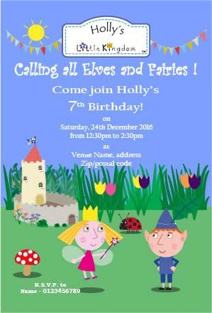 Customisable Ben And Holly S Little Kingdom Birthday Etsy In 2021 Ben And Holly Ben And Holly Party Ideas Birthday Invitations