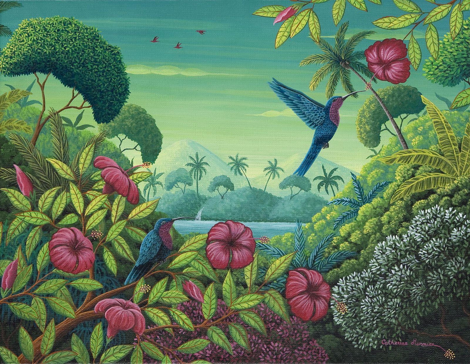 Jolis Petits Colibris 35 X 27 Cm C Catherine Musnier Art