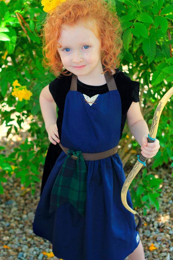 Toddler Child Disney Princess Merida Brave Costume