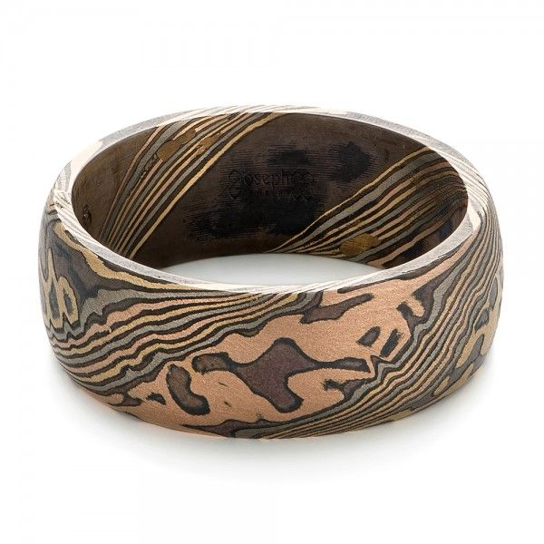Mens Mokume Wedding Band JosephJewelry