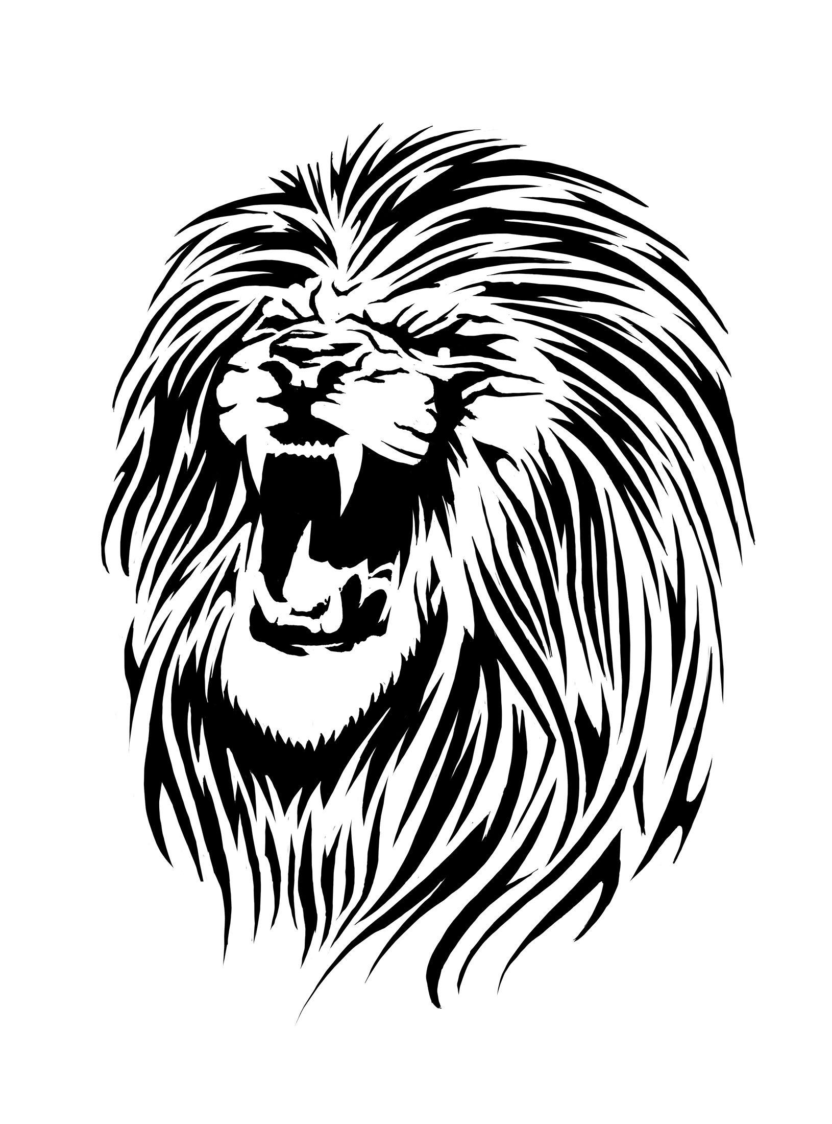 See Free Lion Stencils Printable Lion Stencil Amp Free Lion