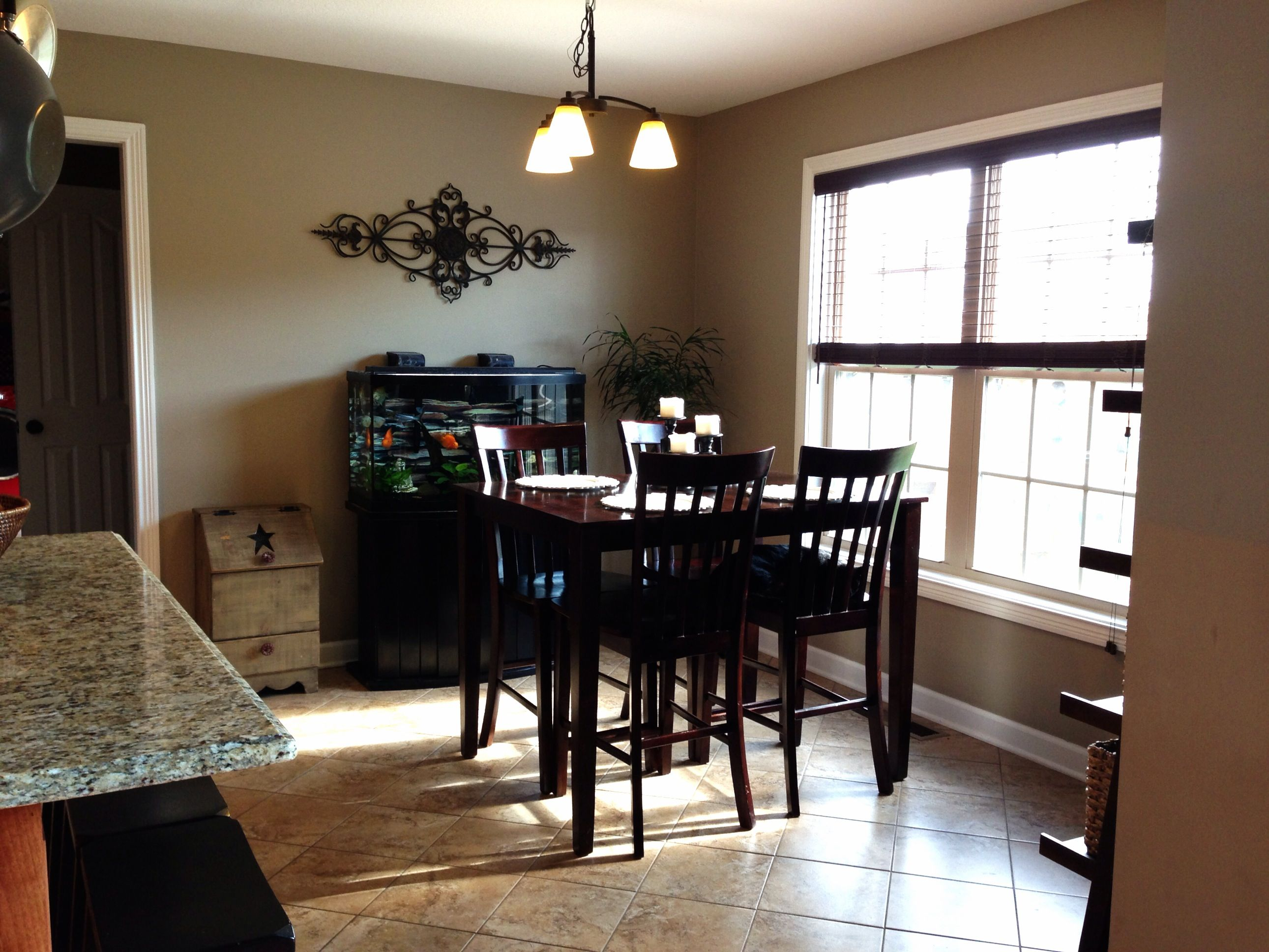 Our DIY updated eat in kitchen area! sherwin williams \