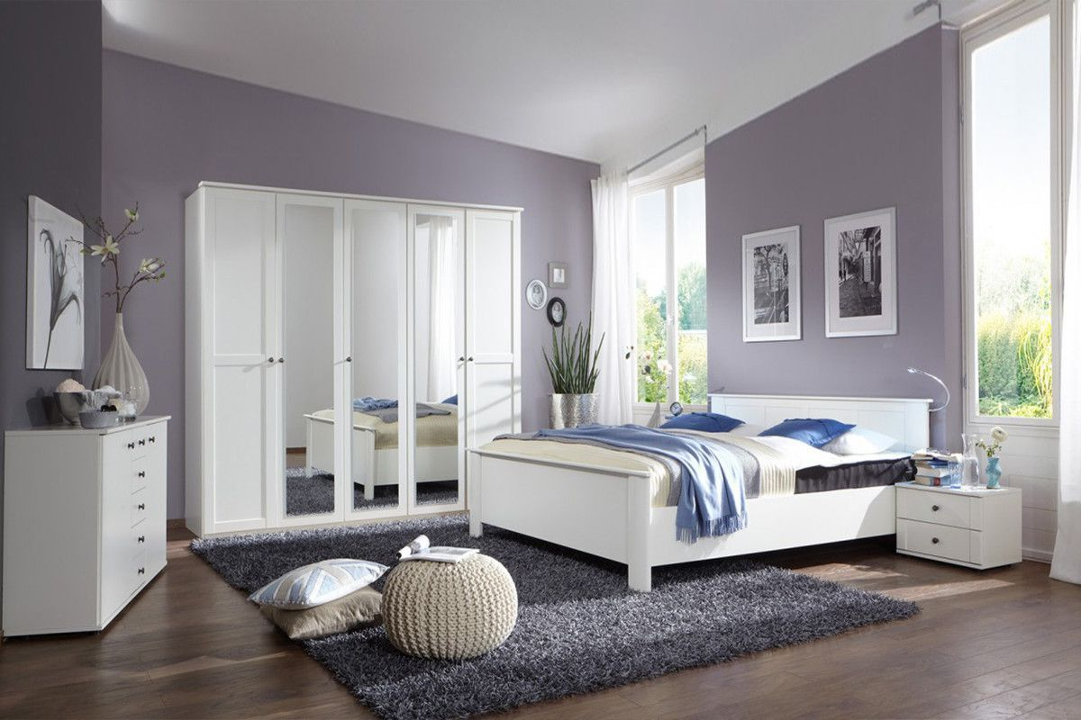 Chambre a coucher contemporaine adulte vente lit double for Decoration chambre adulte moderne