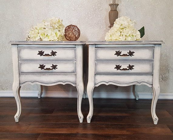 Pleasant Shabby Chic End Tables Antique Nightstands French Home Interior And Landscaping Palasignezvosmurscom