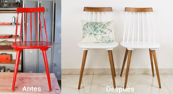 Diy 3 ideas para transformar una silla antigua de madera sillas de madera bricolaje y sillas - Pintar sillas de madera ...