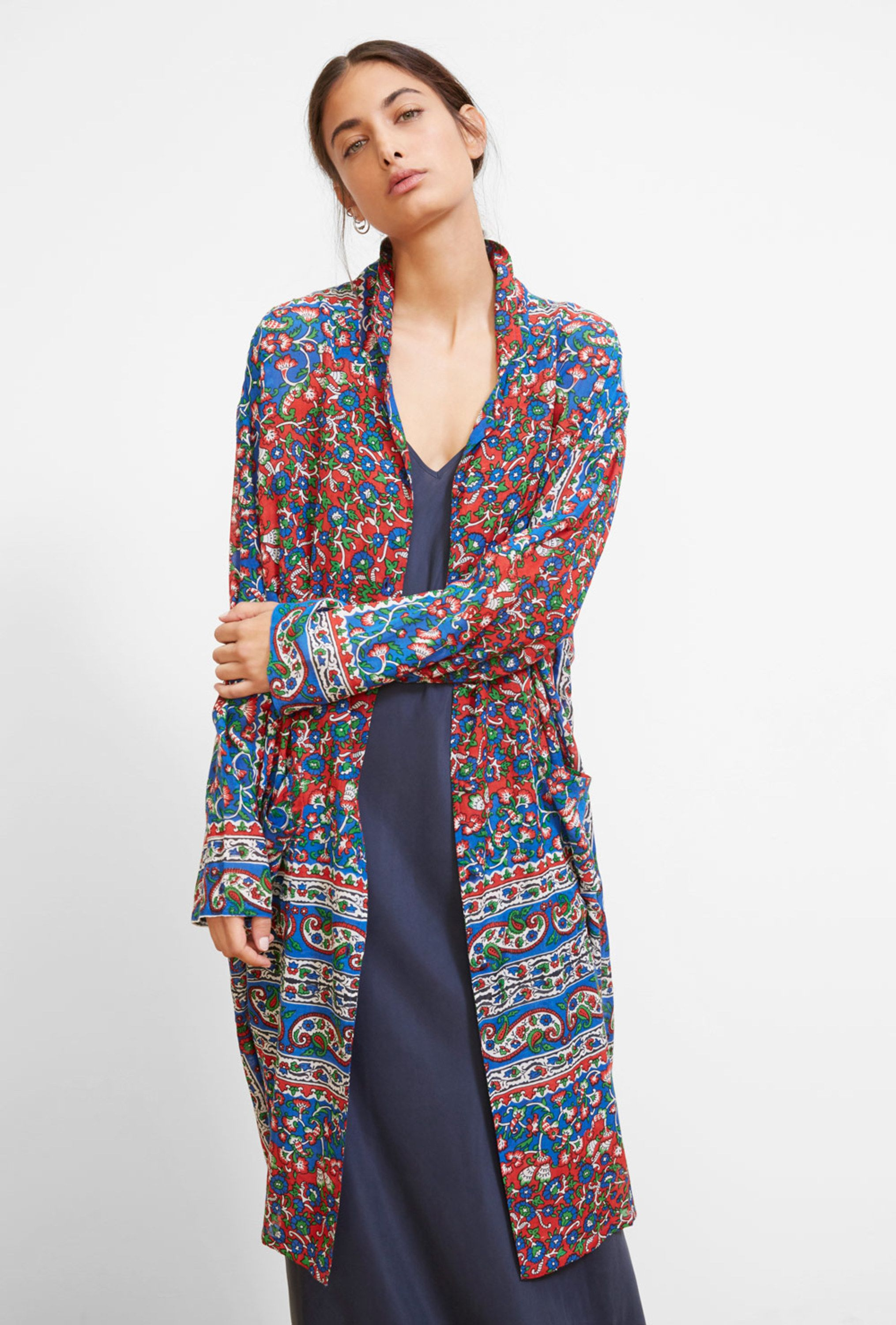 Demoiselles Gurgaon Longue Veste Paris Print Mes EYOwqP0
