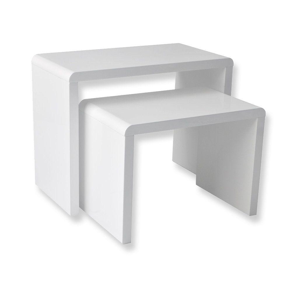 2 Satz Tisch Beistelltisch Gunstig Beistelltische Beistelltisch Weiss