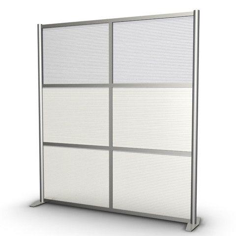 Office Partition Room Divider Translucent Panels 68 wide x 75
