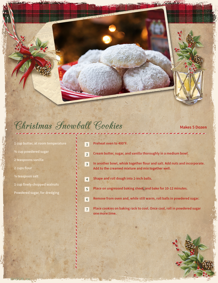 Christmas snowball cookie recipe christmas cheer pinterest surprise your friends with free ecards birthday ecards holiday ecards at blue mountain kristyandbryce Image collections
