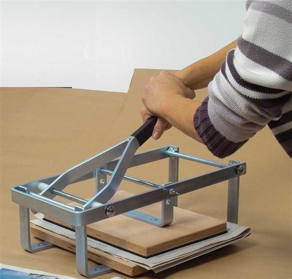 Levier presse manuel cr ations plastiques linogravure presse de compression pour linol um - Travail du bois pour debutant ...
