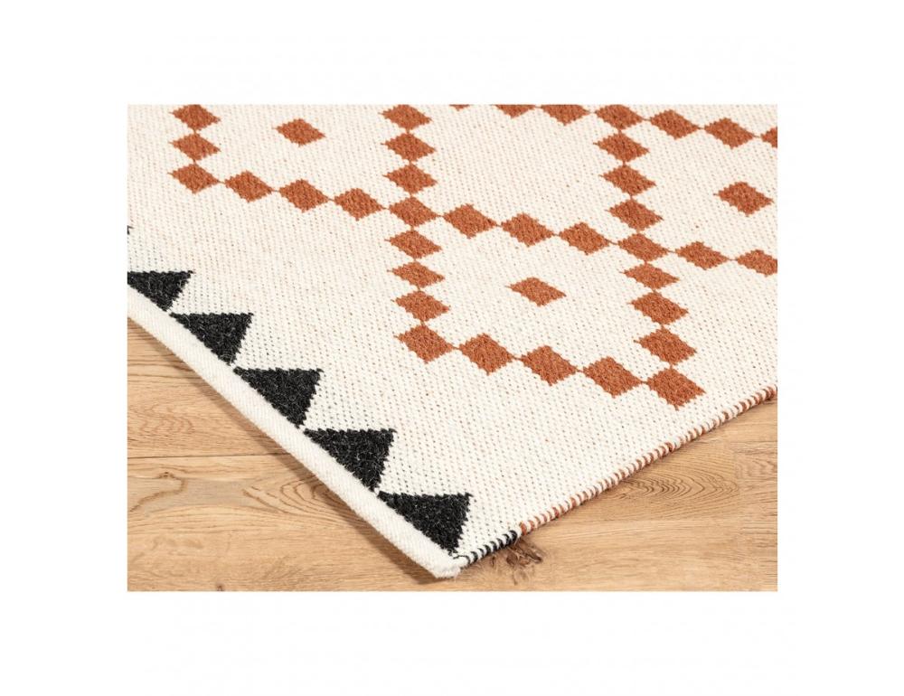 Mohan Tan Flatweave Reversible Wool Rug 160 X 230cm Wool Rug Rugs Hand Weaving