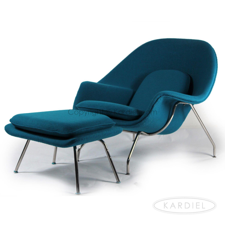 Womb Chair & Ottoman Caribbean Danish Cashmere Wool $799 Kar l