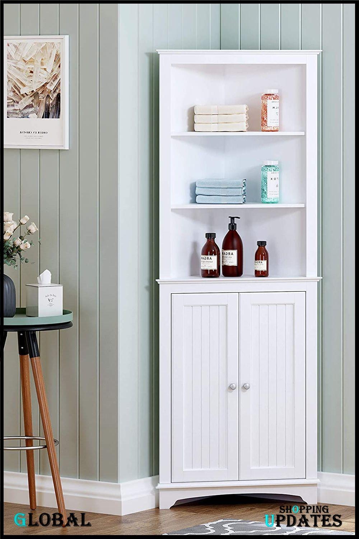 Standing Corner Storage Cabinet Tall Corner Cabinet Corner Storage Cabinet Corner Storage