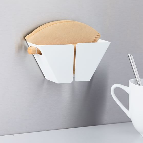 Tosca Magnetic Coffee Filter Holder White Coffee Filter Holder Coffee Filters Food Storage Containers