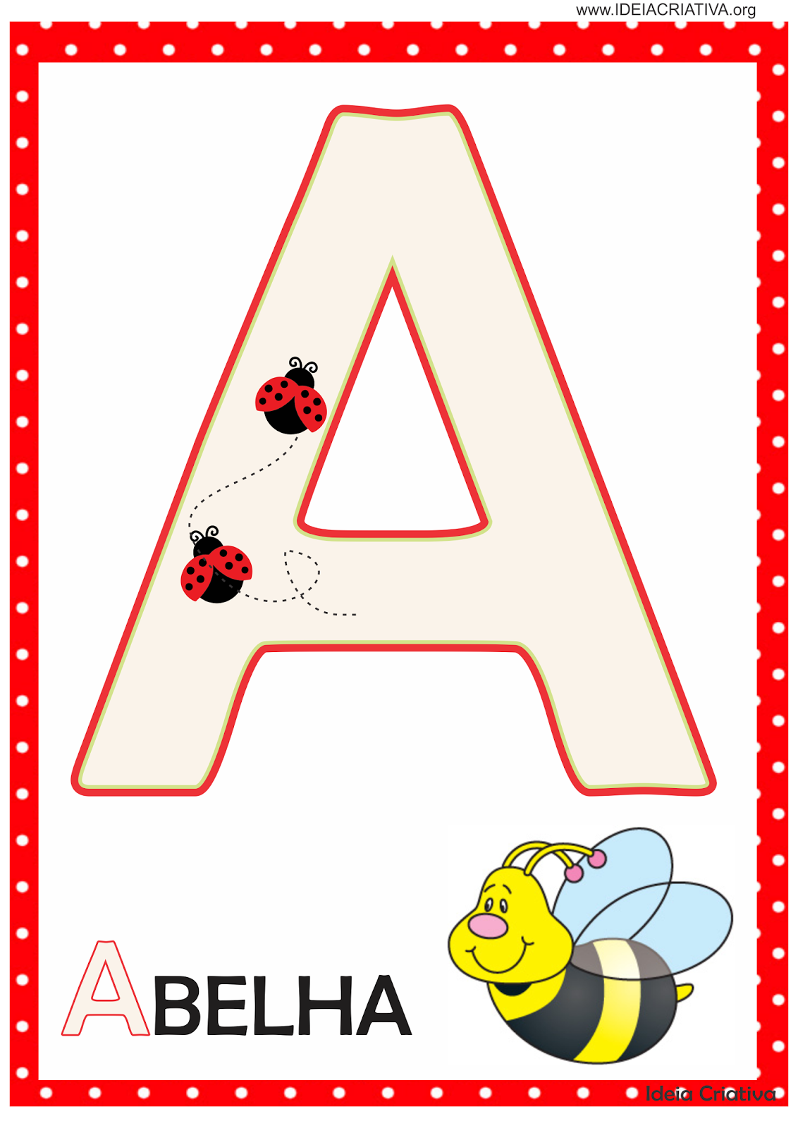 Alfabeto Joaninha Para Imprimir Gratis Modelos De Alfabeto