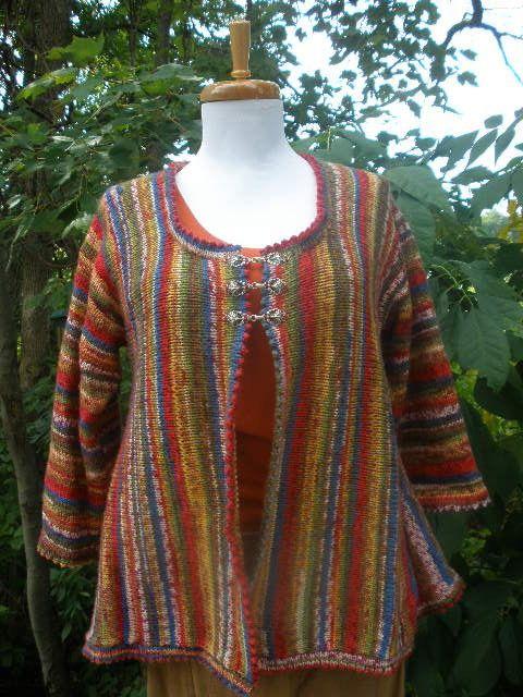 9861178387680e Sock Yarn Sideways Swing Cardigan Knitting Pattern on Etsy