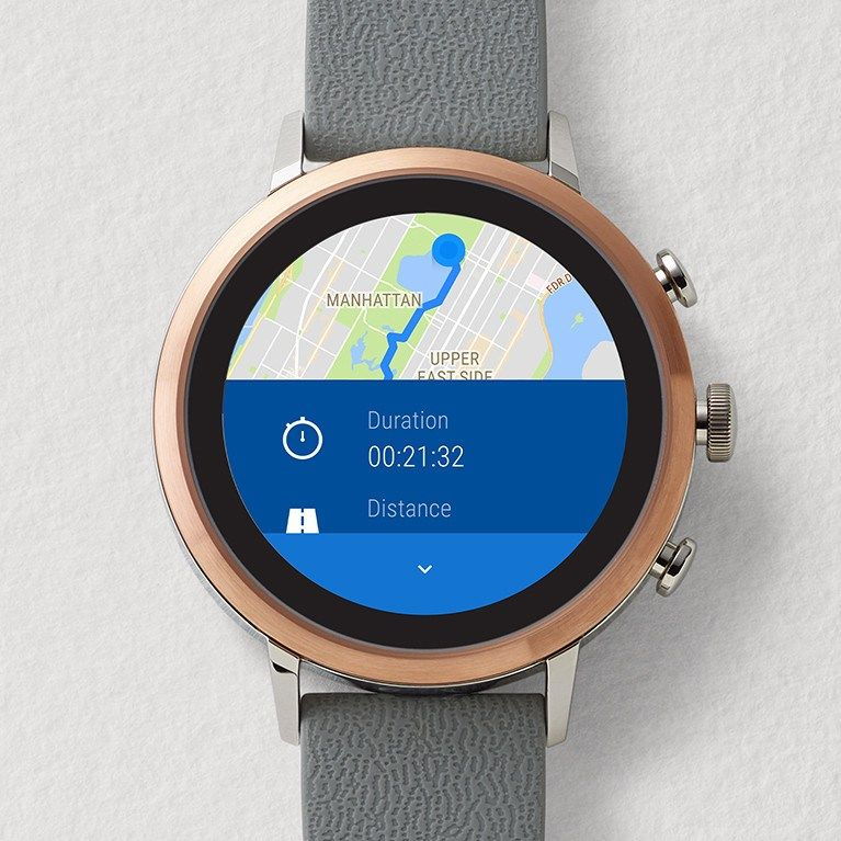 Gen 4 Smartwatch Explorist HR Brown Leather Smart watch