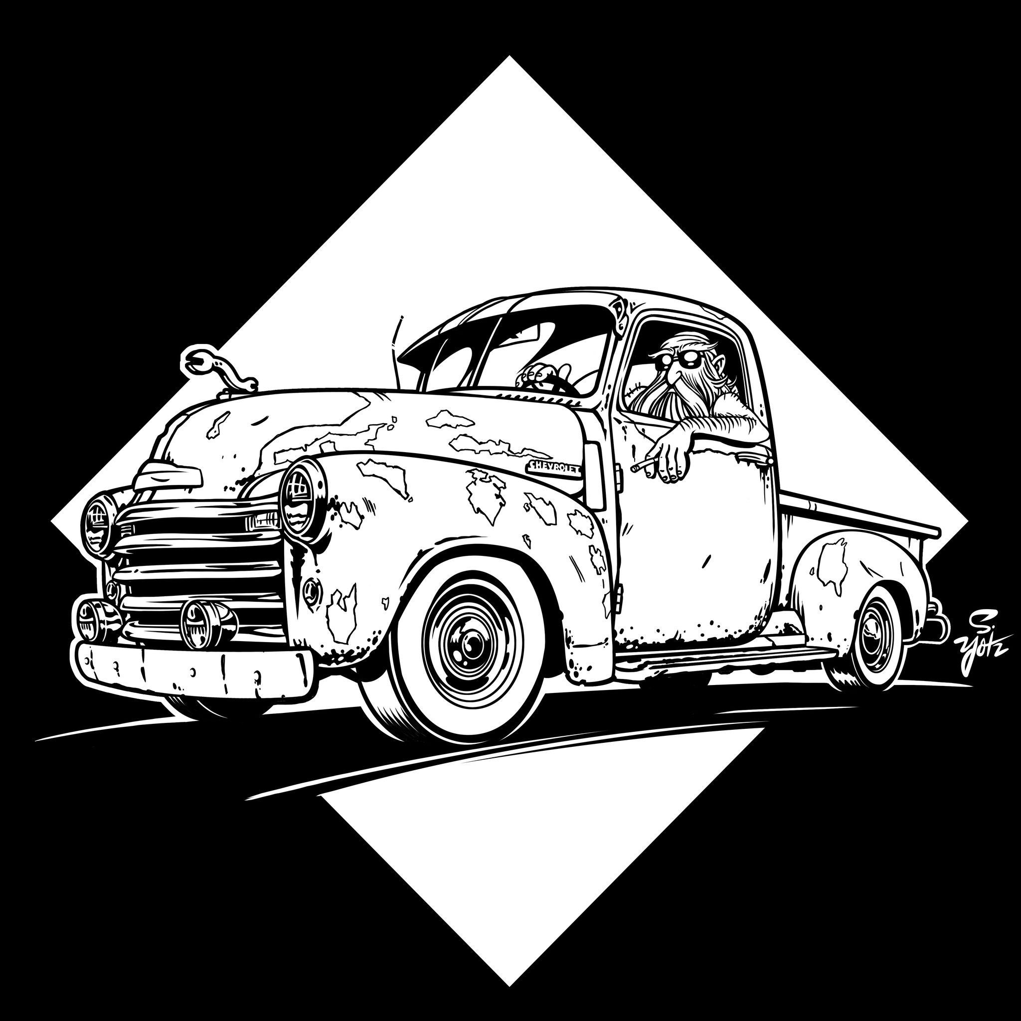 small resolution of wade in the shade 1953 chevy truck rat rod