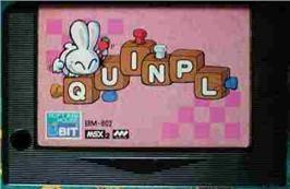 Cartridge artwork for Quinpl on the MSX 2.