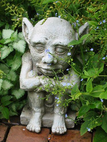 Garden Gargoyle Gargoyles Floral Garden My Secret Garden