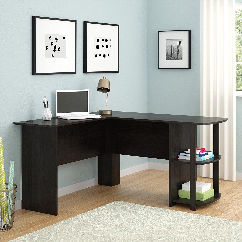 Ameriwood Home Dakota L Shaped Desk With Bookshelves Espresso Kitchen Dining 73 52 No 1 Best Selle Best Home Office Desk Bookshelf Desk L Shaped Desk