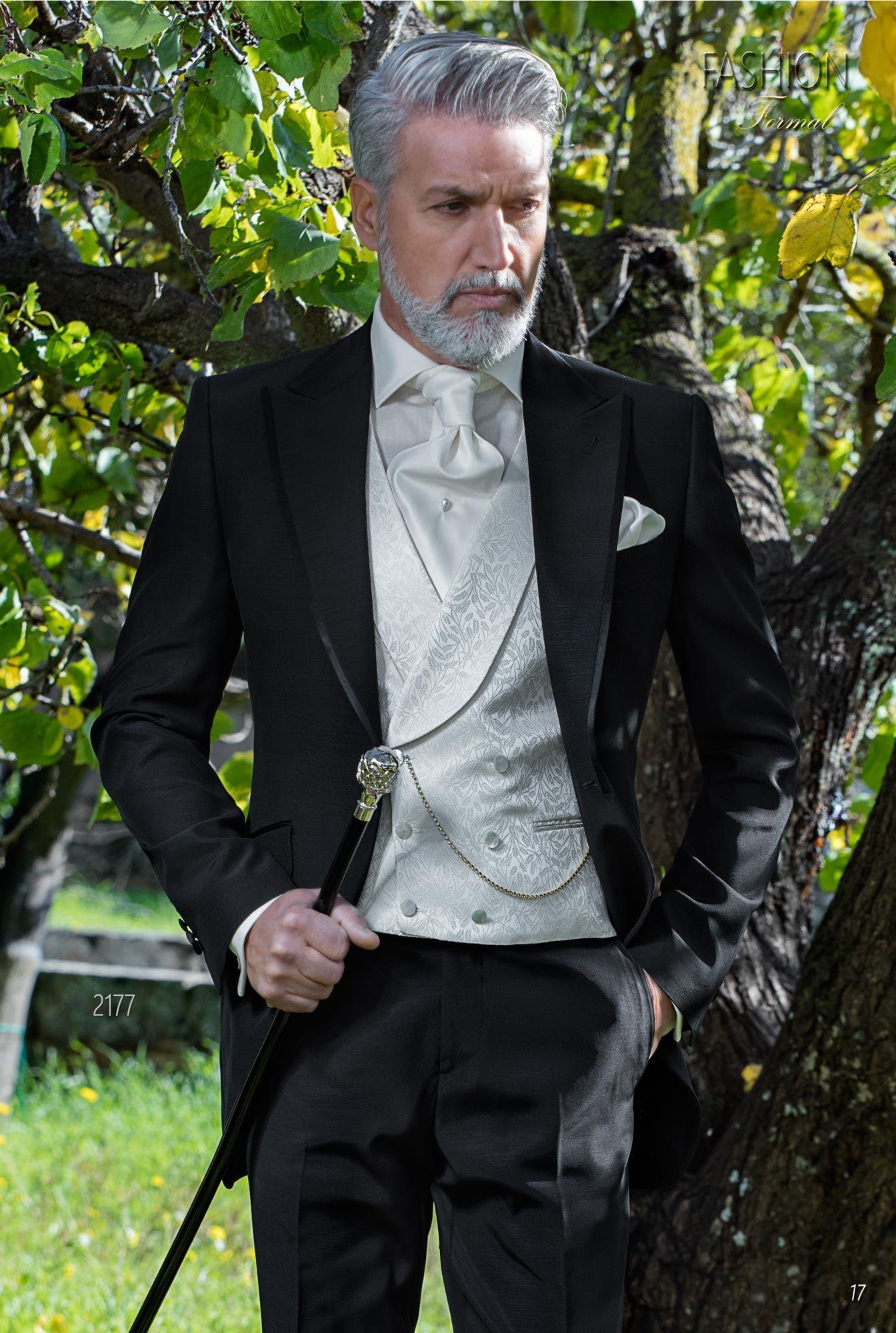 Abito moda uomo fashion nero da cerimonia. Completo ONGala 2177. Collezione  Fashion Formal 2018 b5b57ae1cac