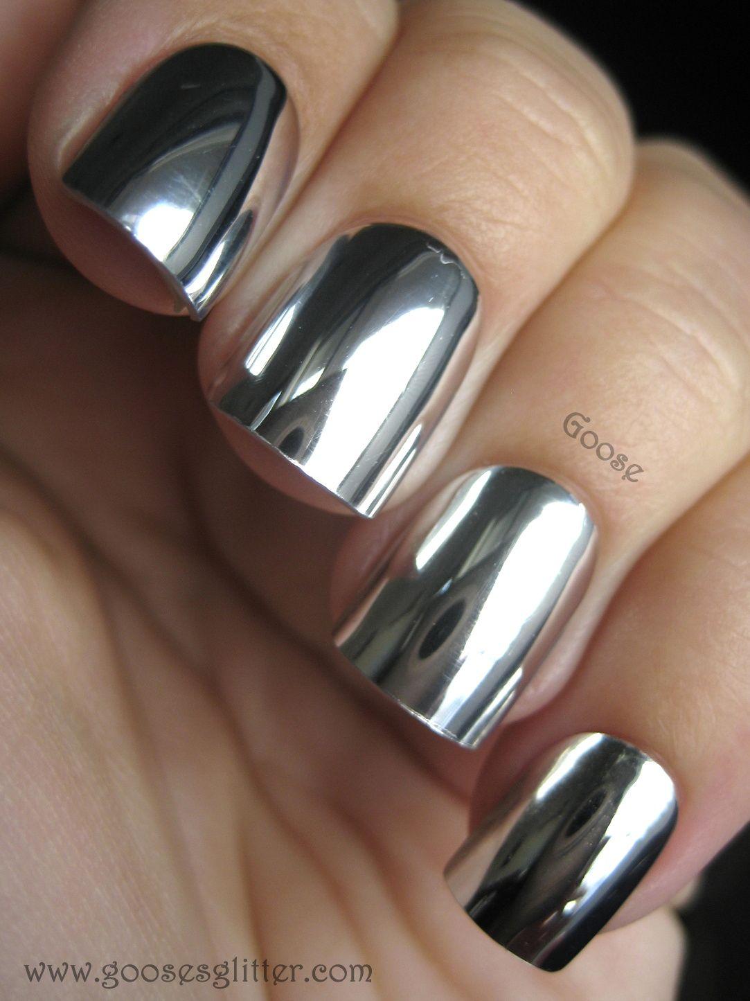 Gooseus glitter mirror nails day review posh polish