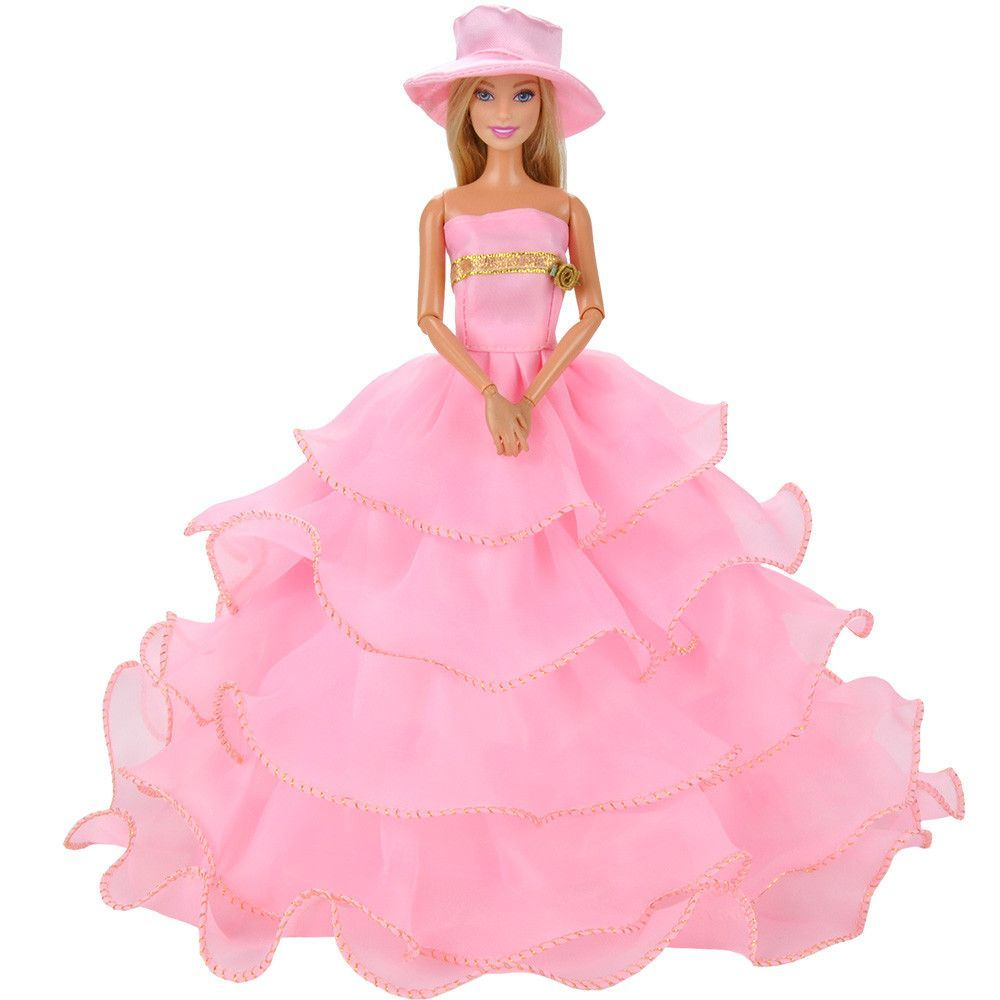 Material organza lace color pink package included dress hat