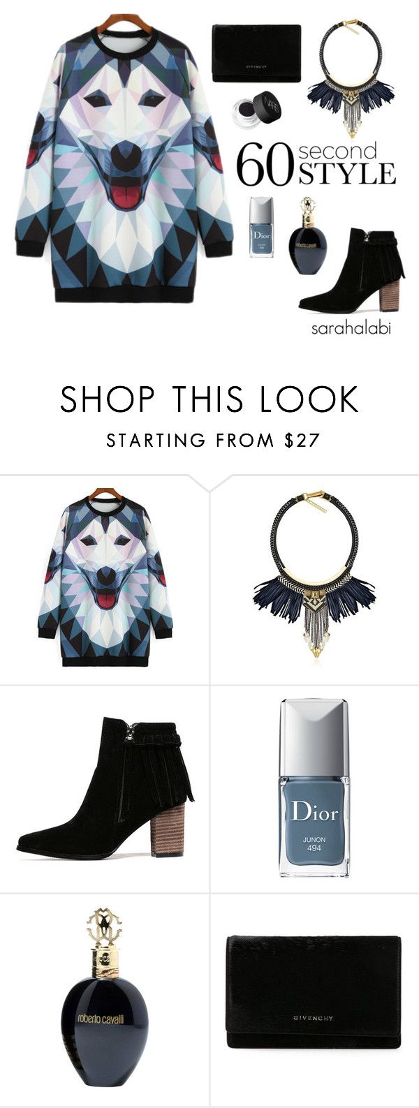 """""""a loup blue."""" by sarsouur ❤ liked on Polyvore featuring Fiona Paxton, Christian Dior, Roberto Cavalli, Givenchy and NARS Cosmetics"""