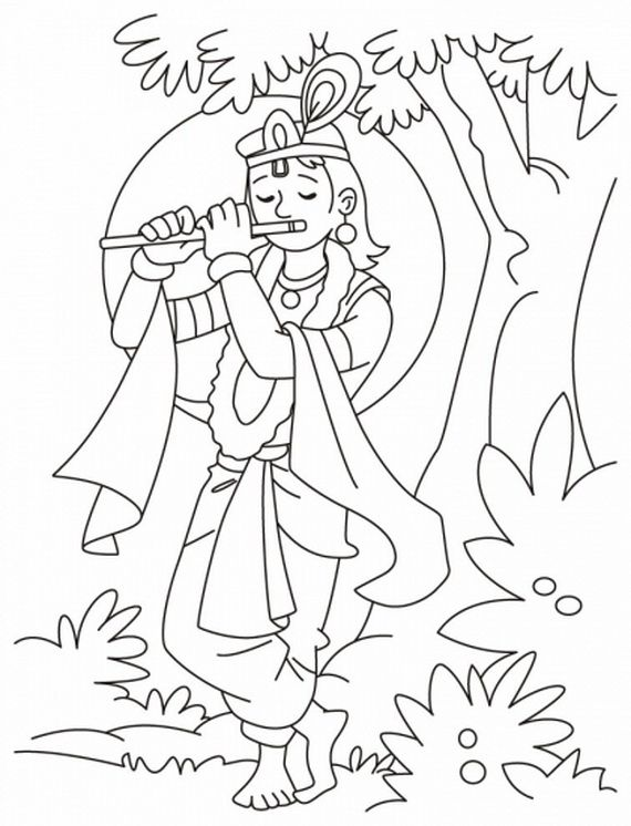 Lord Ganesha For Colouring