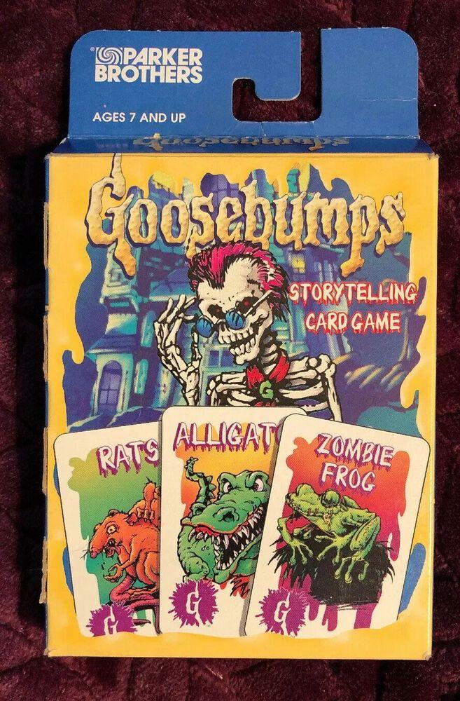 Rare 1995 Goosebumps Storytelling Card Game Parker