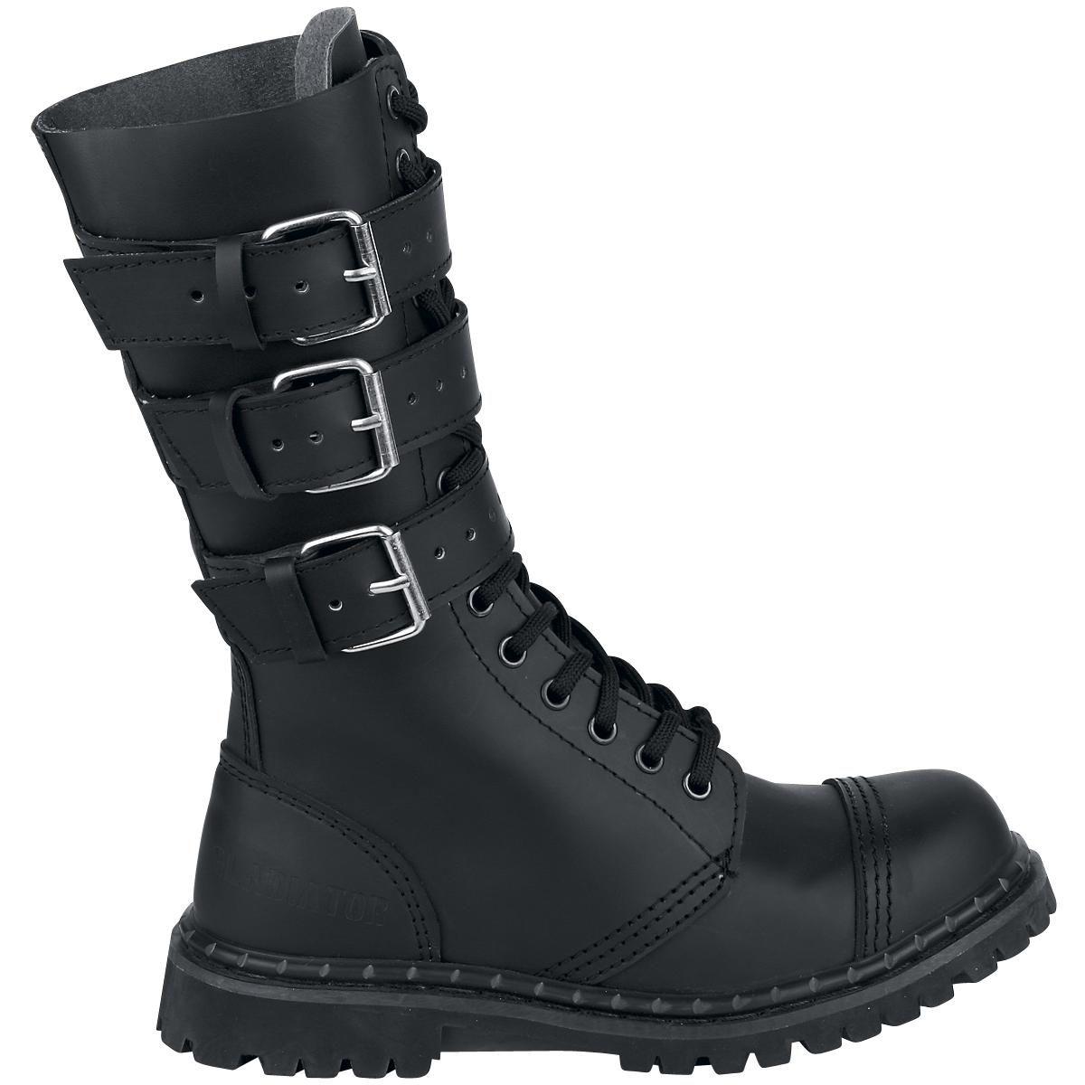 Zapatos negros estilo militar Brandit para hombre WyJ5ydt
