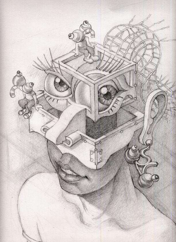 Resultado de imagen para esquizofrenia dibujos   Dibujos   Pinterest ...