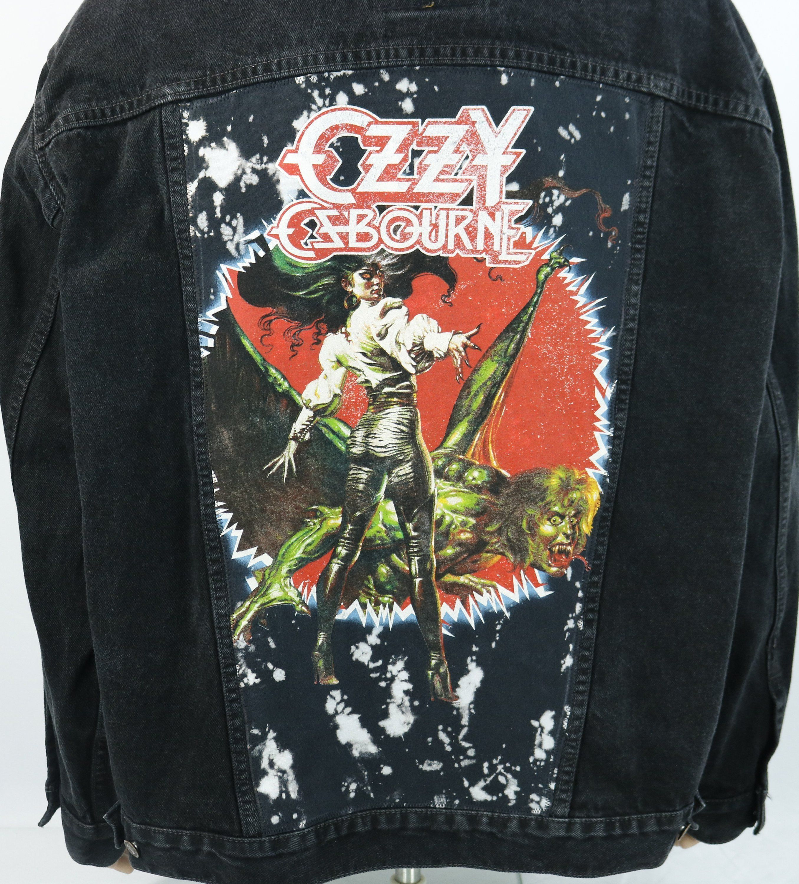 610e5e19cc4 Ozzy Osbourne Levi s Black Denim Jacket VTG Made in USA Jean Sabbath Mens  2XL