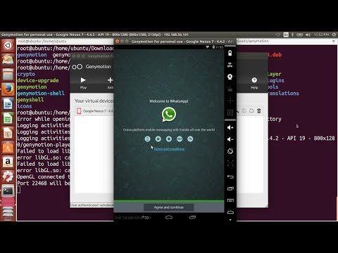 How To Run WhatsApp In Ubuntu Using Genymotion, Bluestacks