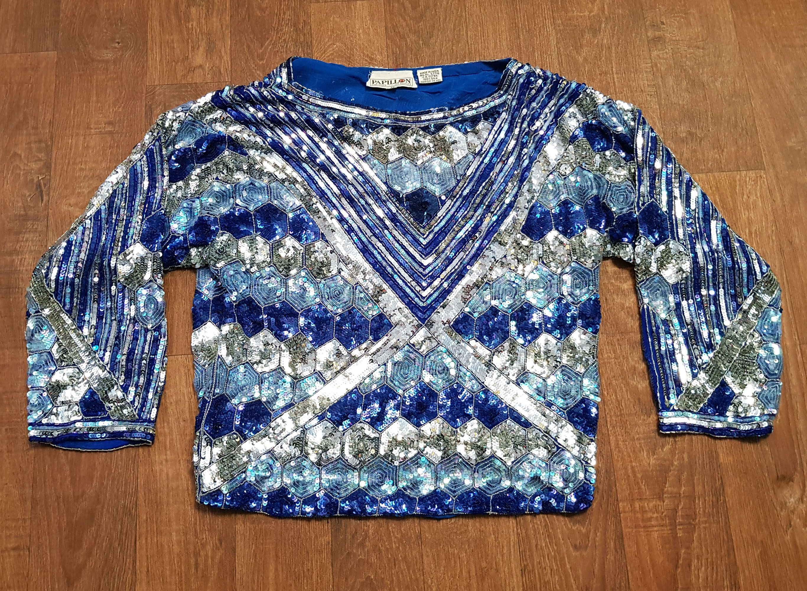 Stunning 1980s Vintage High Sparkle Sequin Top Vintage Clothing Vintage Outfits Vintage Sequin Top Vintage Tops