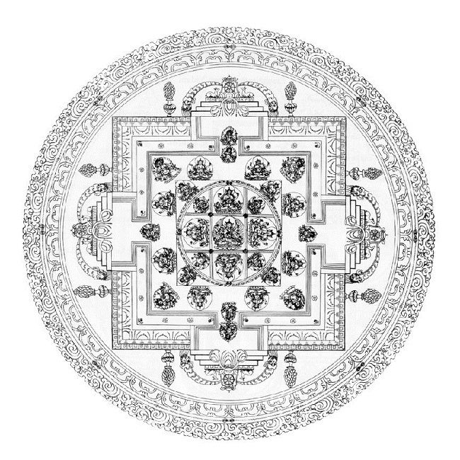 buddhist mandala coloring pages | Religious | Pinterest