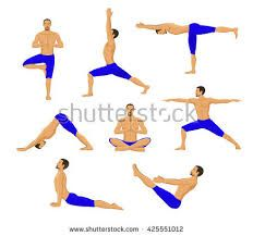 image result for free single warrior yoga pose silhouettes