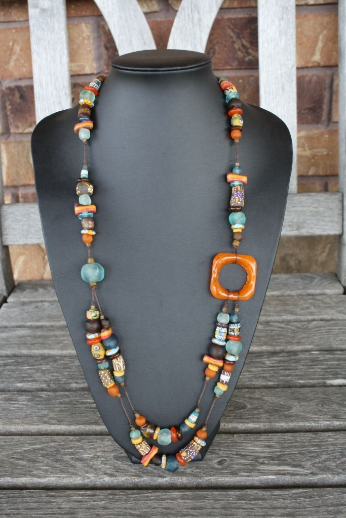 Handmade Jewelry Design Ideas this necklace is made using three hand beaded strands containing different shapes and types of turquoise copper and antiqued glass seed beads No Info Available Httpwwwfenzymecomhandmade Jewelry