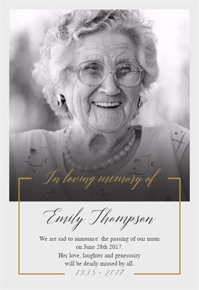 Treasured Memory Memorial Card Template Free Greetings Island Memorial Cards For Funeral Funeral Cards Funeral Program Template Free