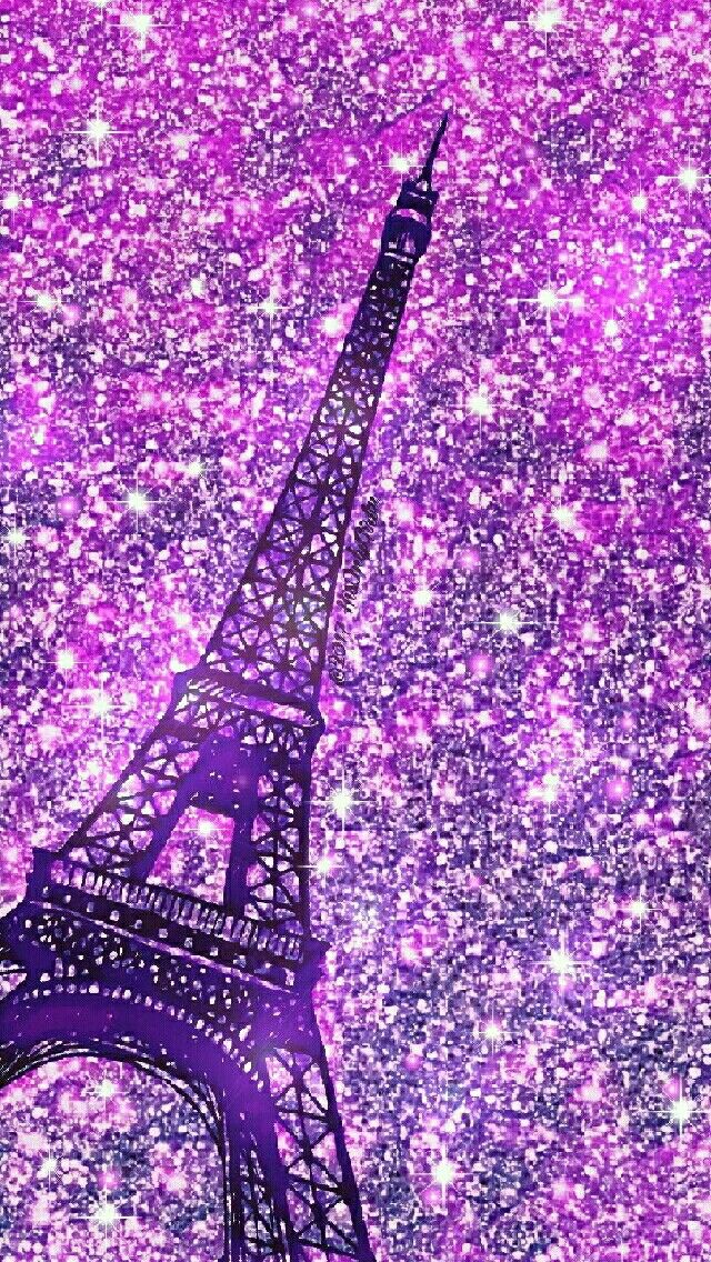 Purple Eiffel Tower Iphone Android Glitter Wallpaper I Created For