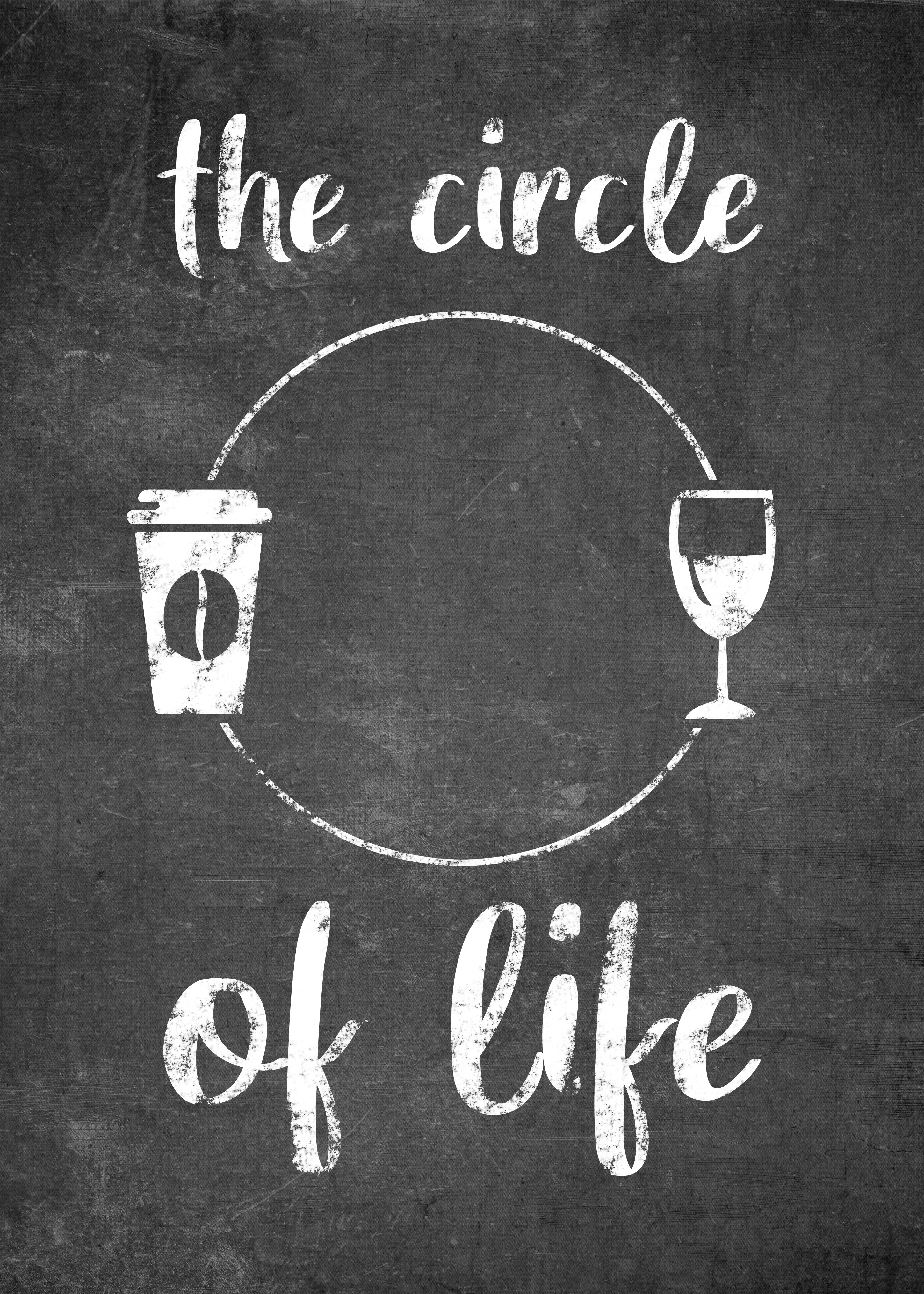 The Circle Of Life Poster By Posterworld Displate Wine Quotes Coffee Quotes Circle Of Life