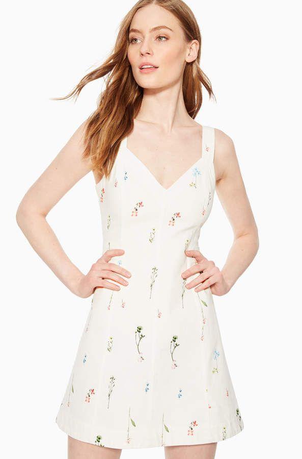 a9693de1179b Vara Floral Dress in 2019 | Products | Dresses, White denim dress ...