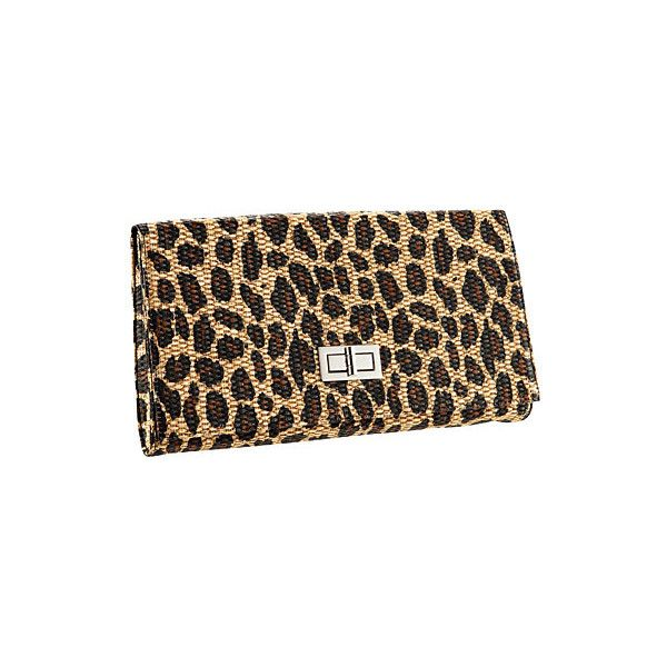 H&M leopard print clutch ❤ liked on Polyvore featuring bags, handbags, clutches, accessories, purses, bolsas, brown handbags, leopard print clutches, leopard clutches and man bag